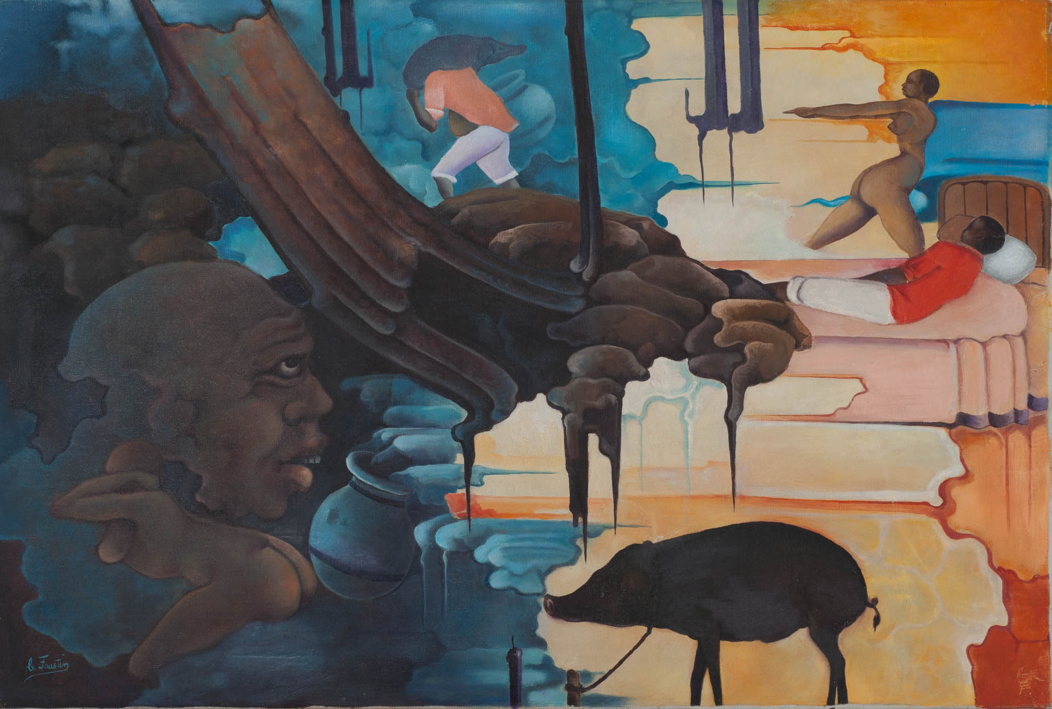 Figures with Black Pig, 1981